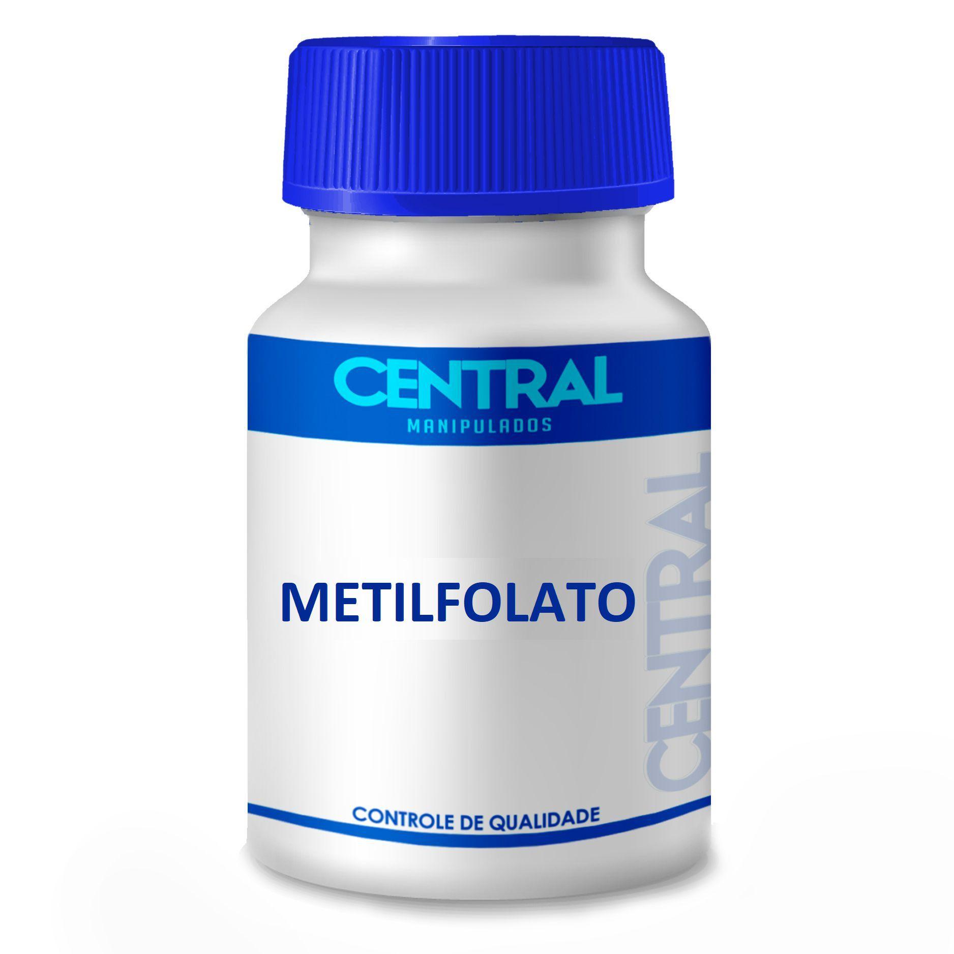 Metilfolato - Forma Ativa do Ácido Fólico - 500 mcg 120 cápsulas