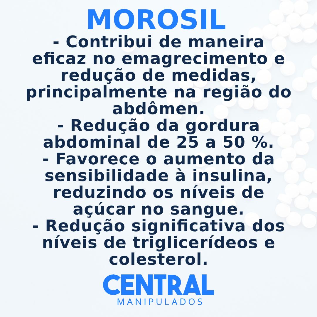 Morosil® (ORIGINAL GALENA) 500mg - 30 cápsulas - Auxílio na Redução de Medidas e Gerenciamento do Peso