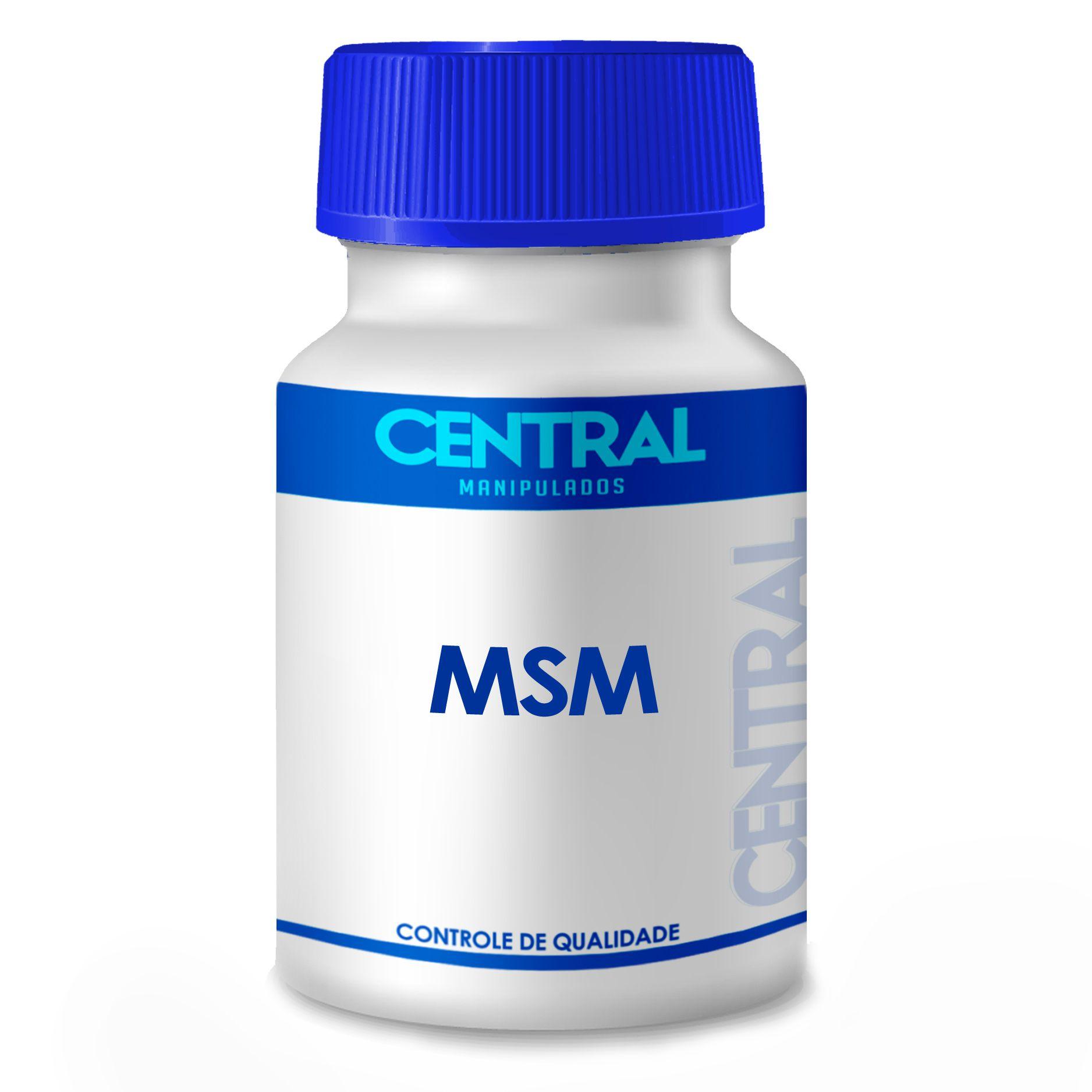 MSM - forma natural de enxofre orgânico - 500mg  - 60 cápsulas