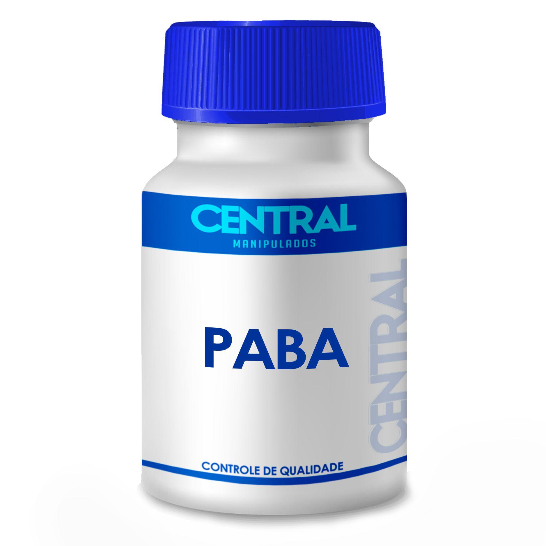 PABA - Antioxidante e Previne e evita queda capilar - 20mg - 60 cápsulas