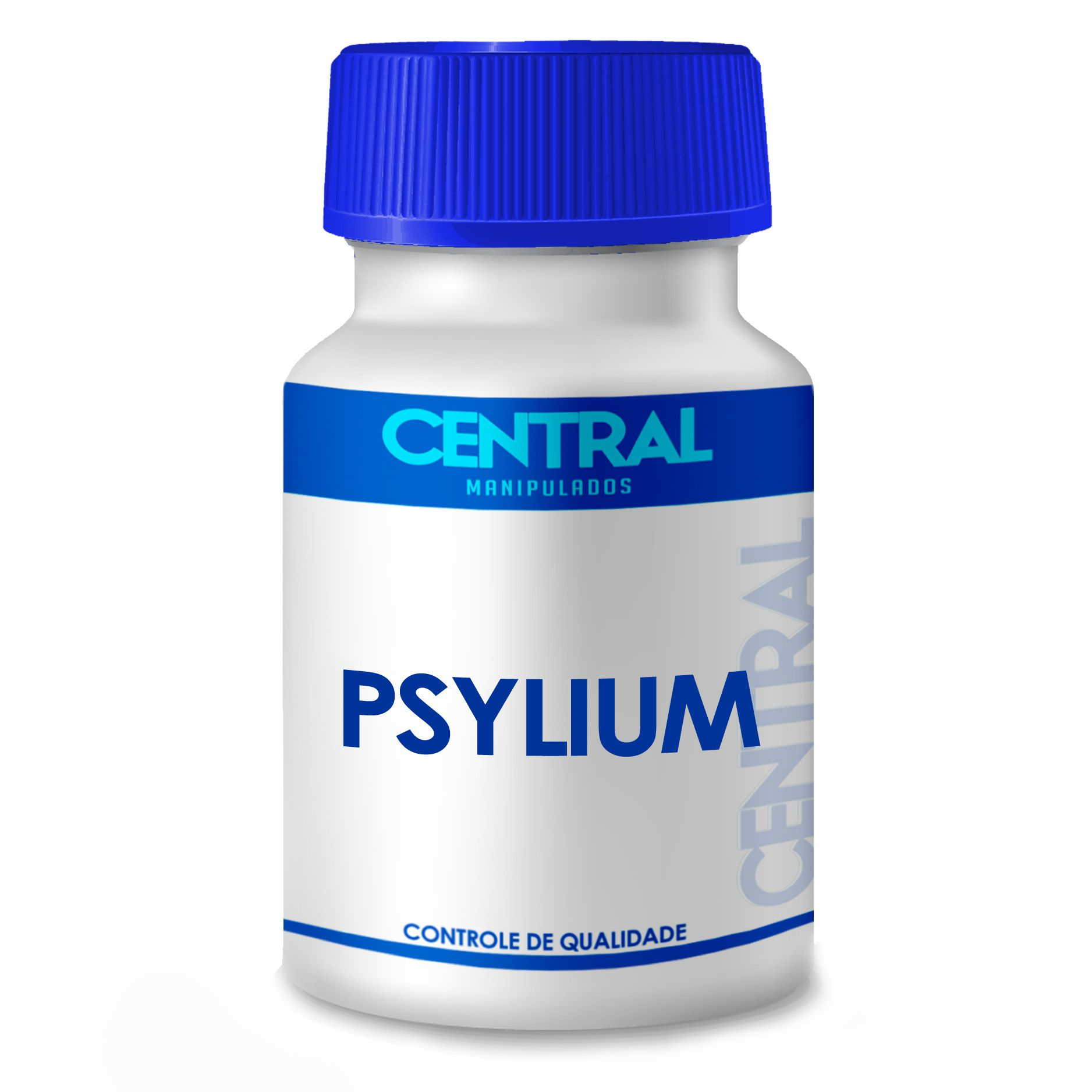 Psyllium - Para constipação crônica, hemorroidas, colites e diverticulites - 500mg 120 cápsulas