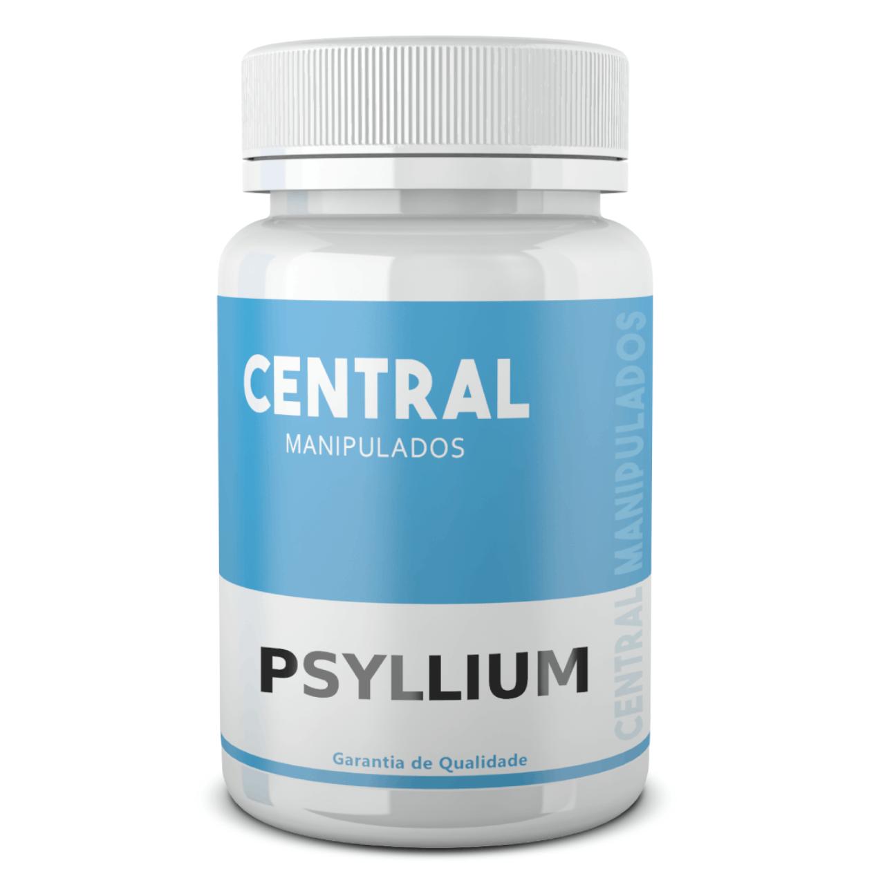 Psyllium 500mg - 120 cápsulas - Para constipação crônica, hemorroidas, colites e diverticulites, saúde intestinal