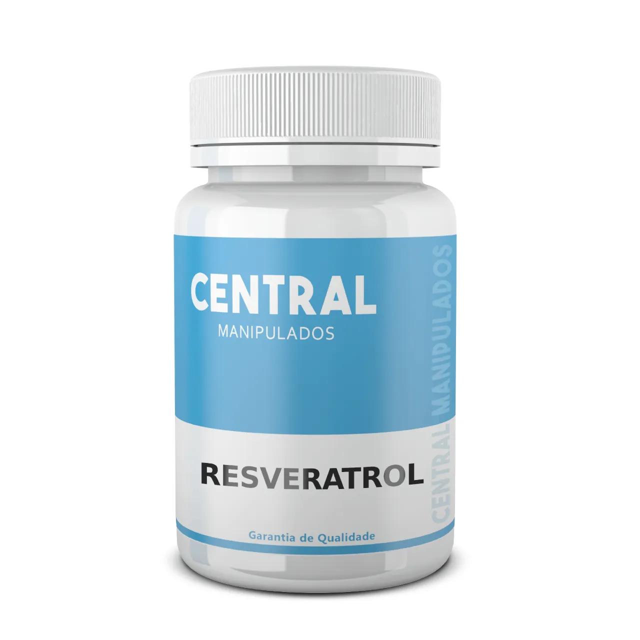 Resveratrol 30mg - 60 cápsulas - Antioxidante, efeito cardioprotetor, exibe propriedades anticâncer, impedindo a proliferação de células cancerígenas.