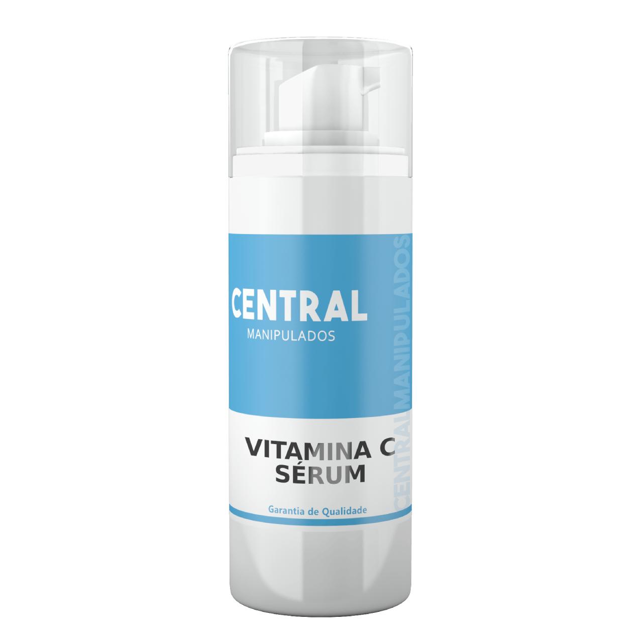 Vitamina C Pura - 30ml Sérum - Uniformização do tom da pele e Luminosidade, Diminuição dos sinais do envelhecimento, Redução da acne e olheiras