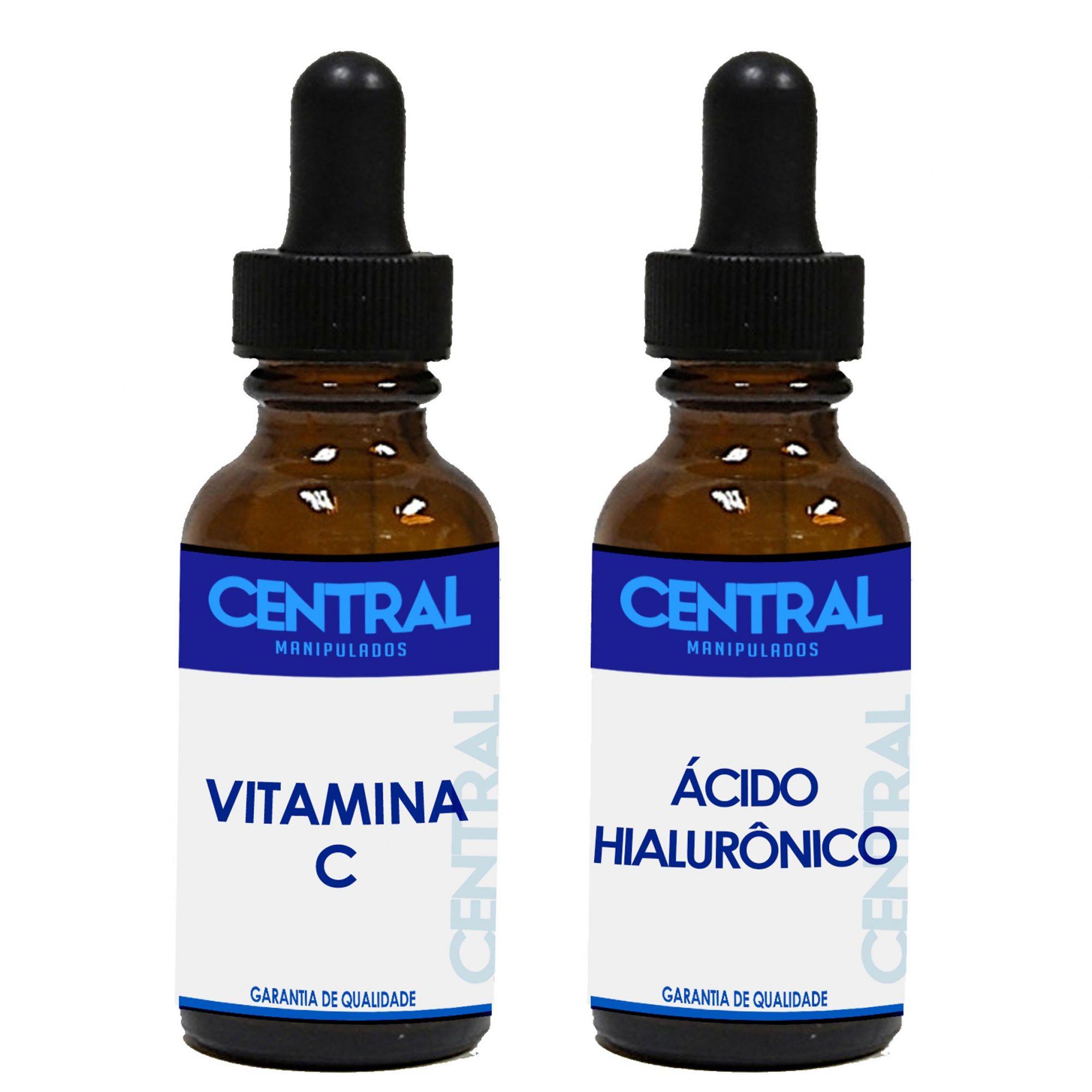 KIT Sérum Ác. Hialurônico +  Sérum Vitamina C puro