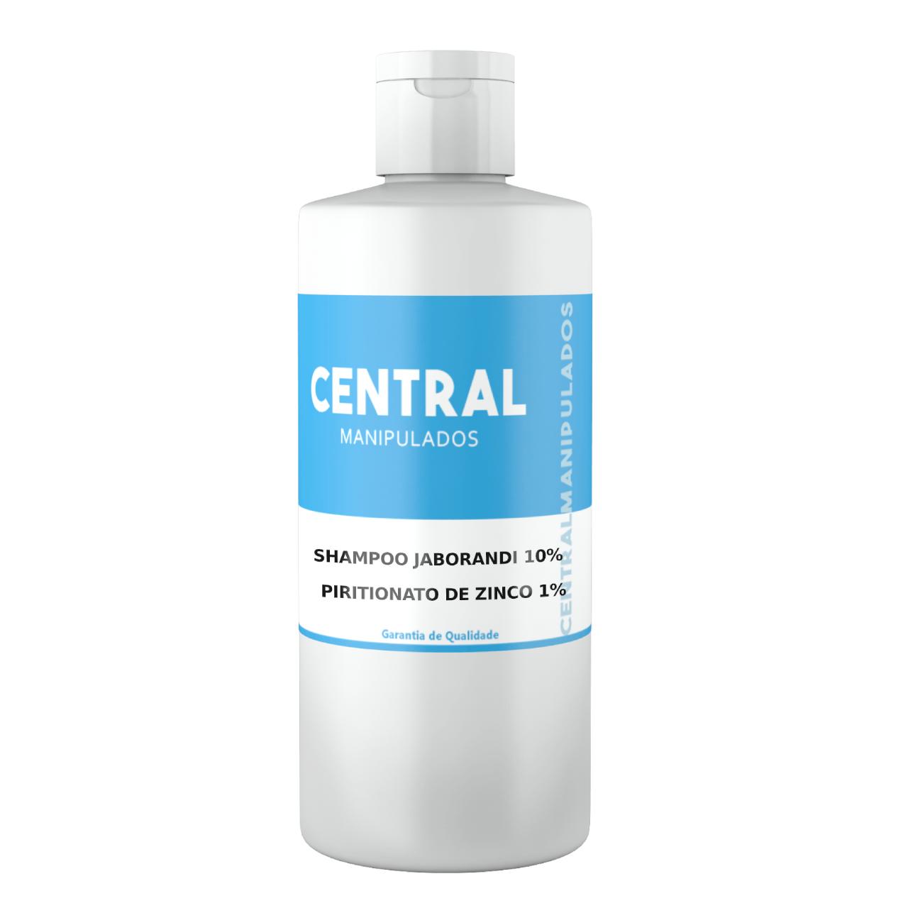 Jaborandi 10% + Piritionato de Zinco 1% -  Shampoo 200ml  - Anti queda para cabelo frágil e quebradiço, combate oleosidade e caspa