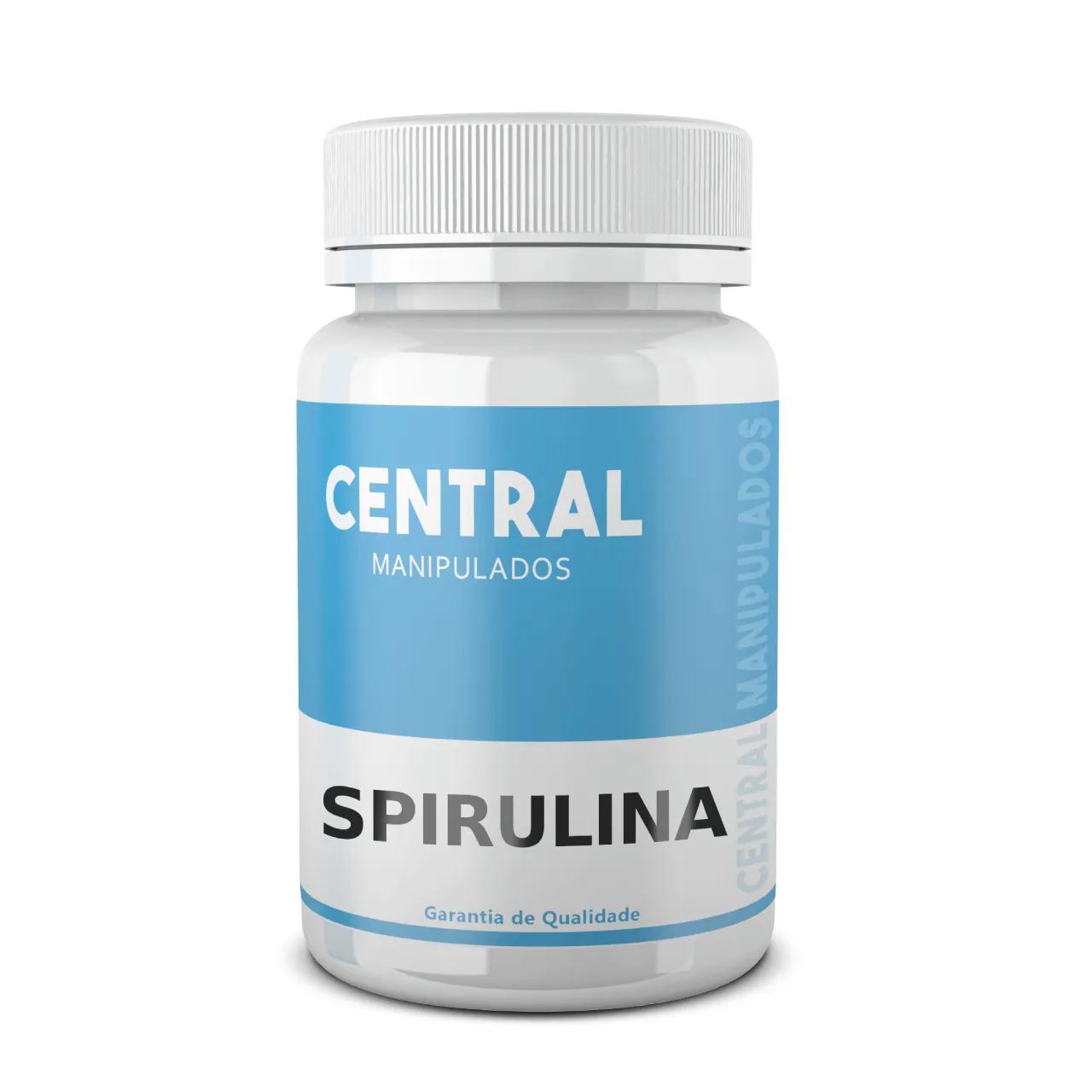 Spirulina 500mg - 60 cápsulas - Inibidor de Apetite, Promove saciação, Melhora a saúde digestiva e gastrintestinal, Reforço para Imunidade