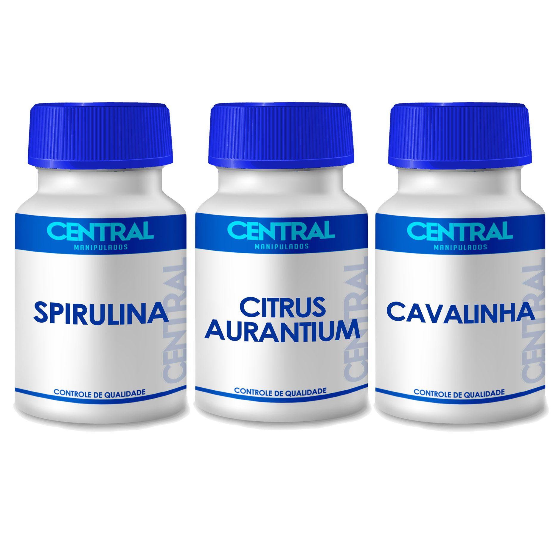 Spirulina + Cavalinha + Citrus Aurantium