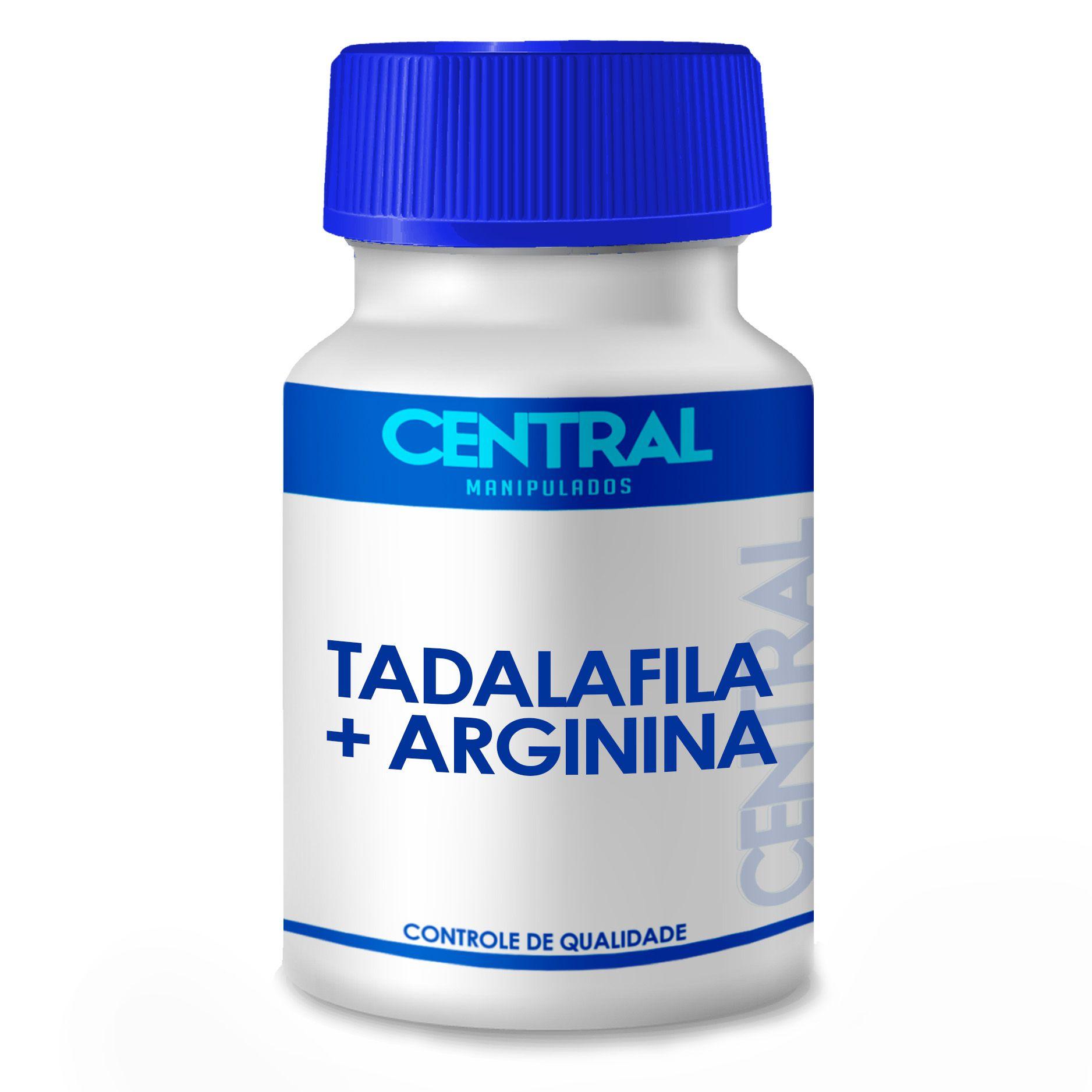 Tadalafila 20mg +  Arginina 500mg 120 cápsulas