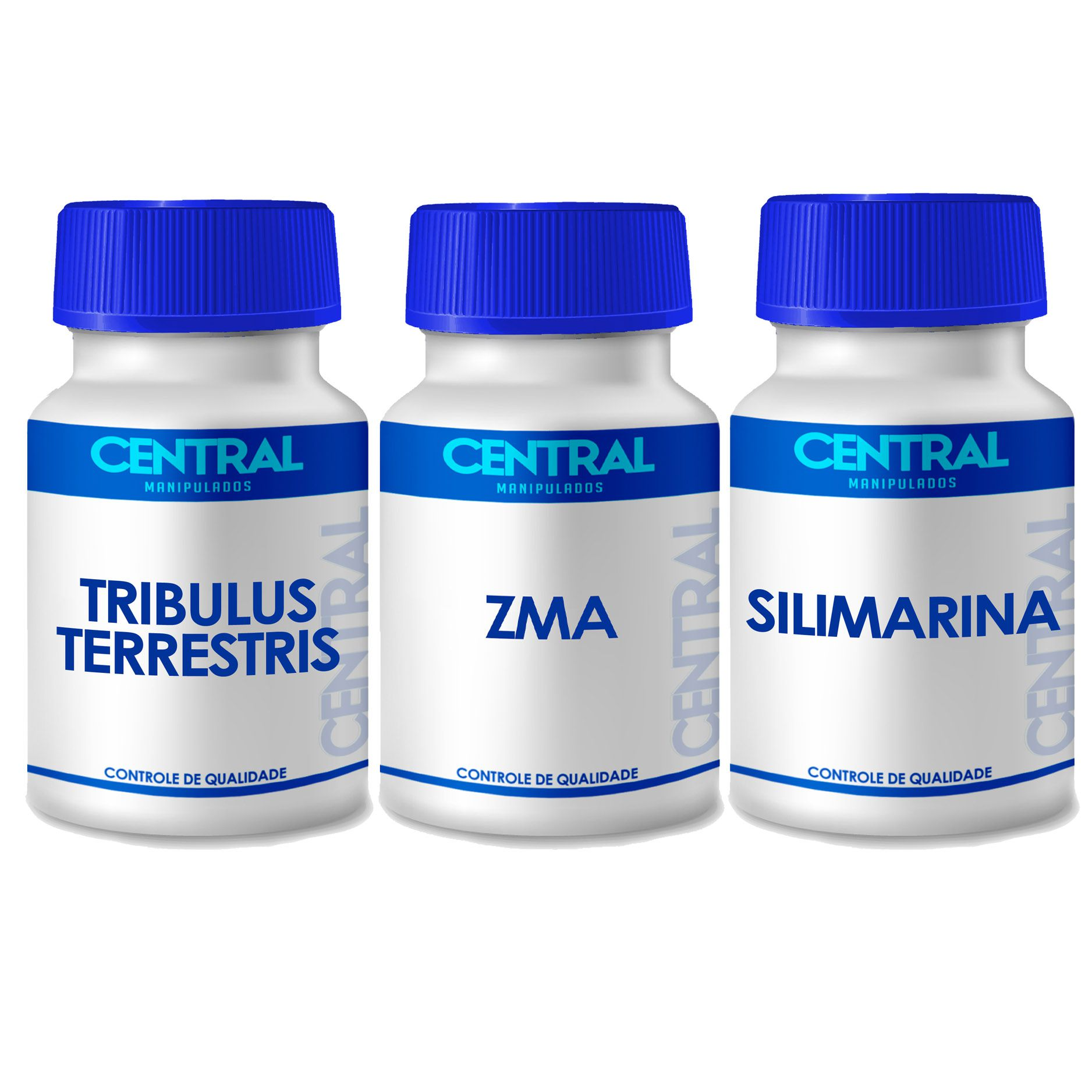 KIT  Tribulus + ZMA + Silimarina 120 cápsulas
