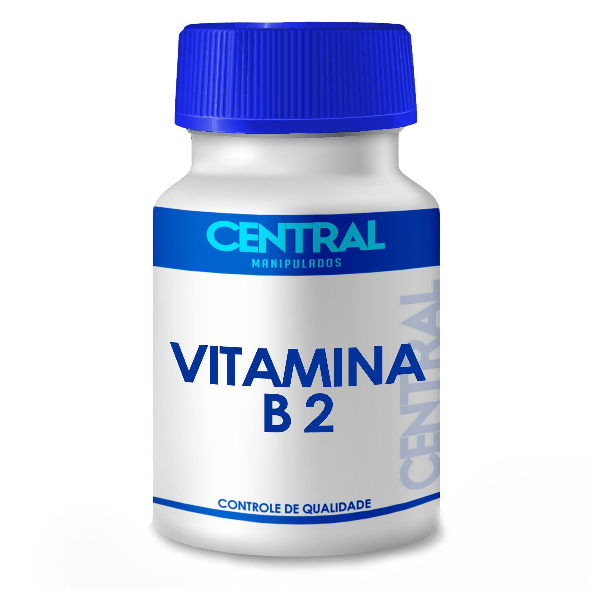 Vitamina B2 - Riboflavina - Indicada nos esportes de alta performance, na hemodiálise crônica e na inflamação crônica do intestino -100mg  - 60 cápsulas