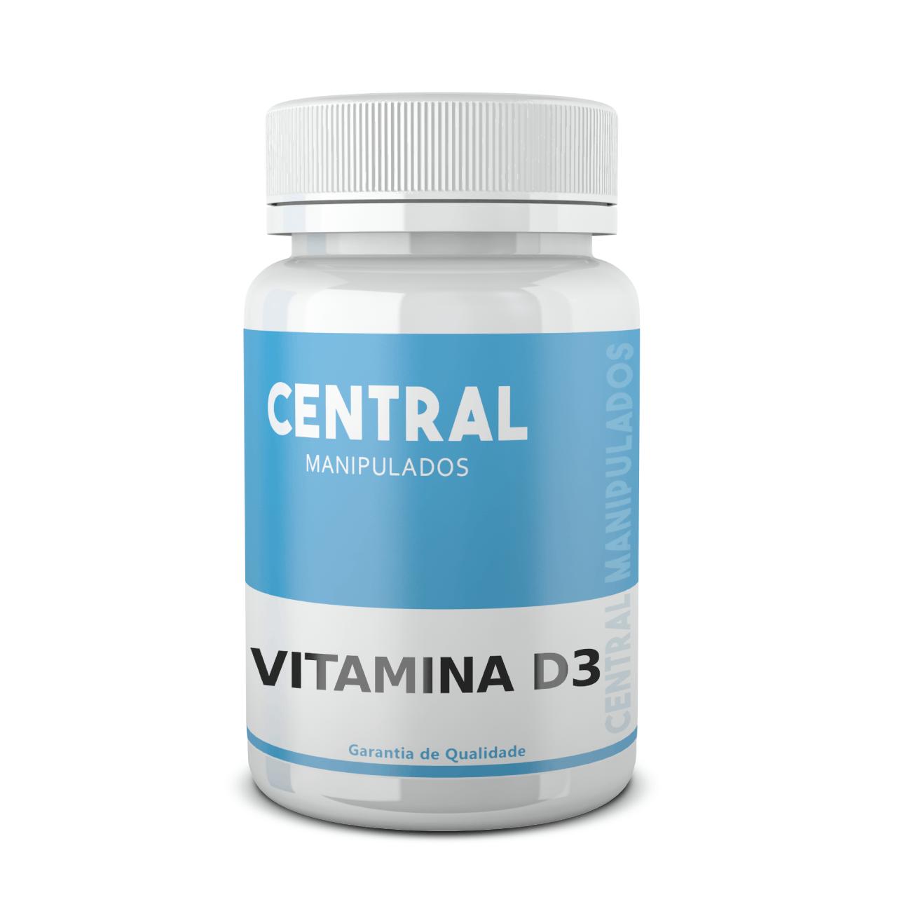 Vitamina D3 5.000 UI - 120 cápsulas - Saúde Óssea e Muscular