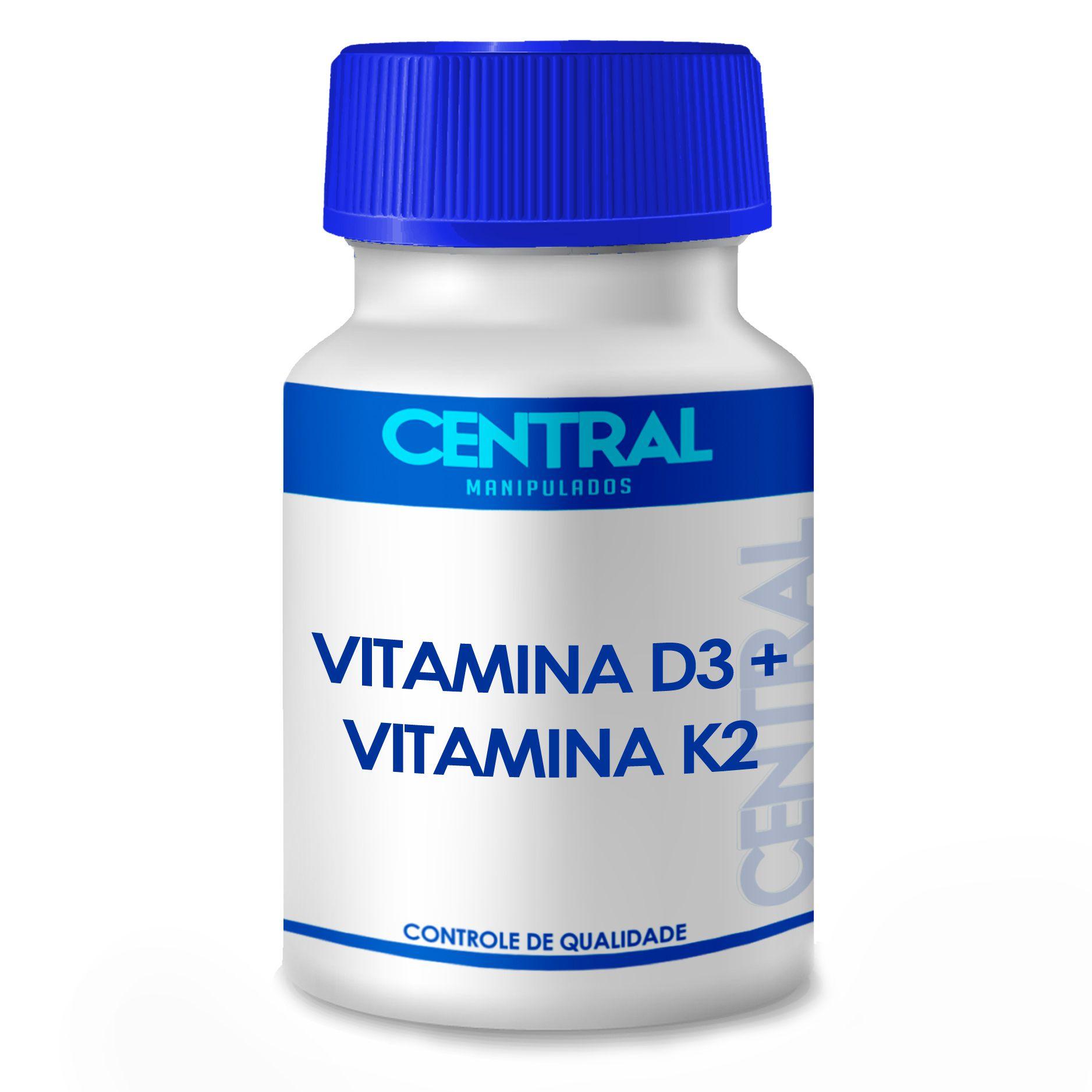 Vitamina K2 100mcg + Vitamina D3 10,000UI com 240 cápsulas