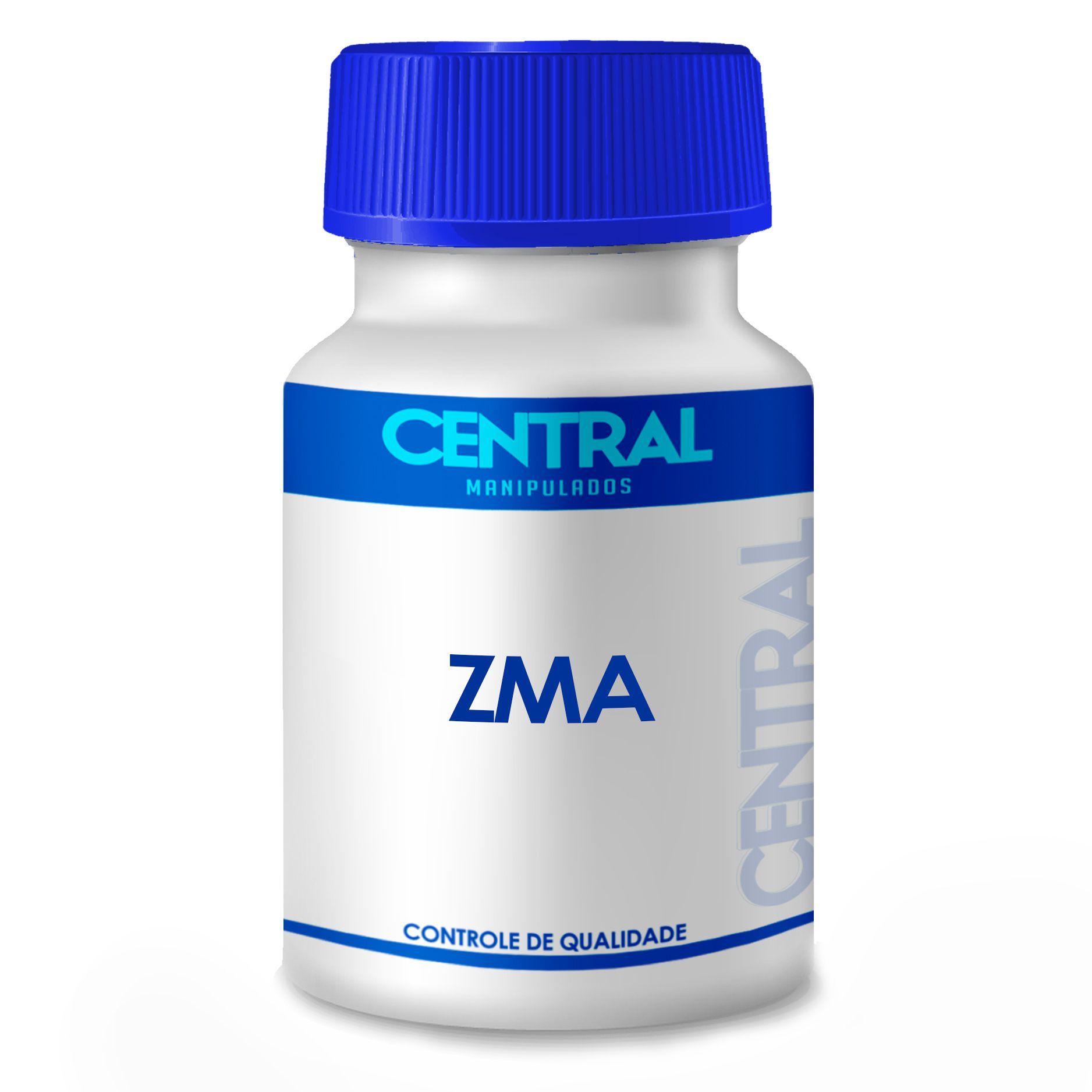ZMA Formula Optimun - Suplemento composto de zinco, aspartato de magnésio e vitamina B6 - 60 cápsulas