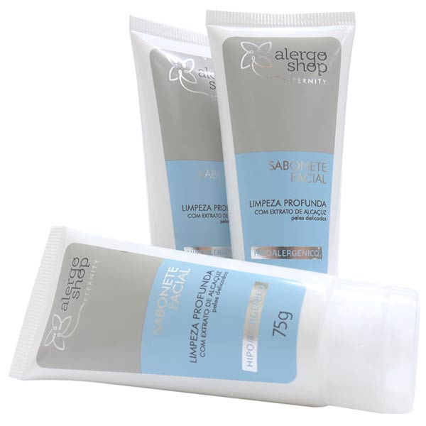 Sabonete Facial Limpeza Profunda Hipoalergênico