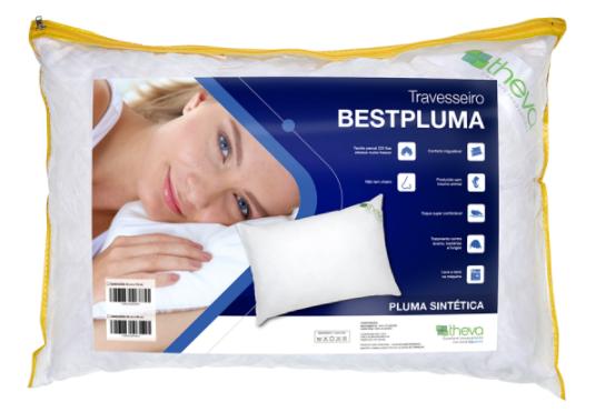 Travesseiro de Plumas Sintéticas Bestpluma Theva King 50cm X 90cm