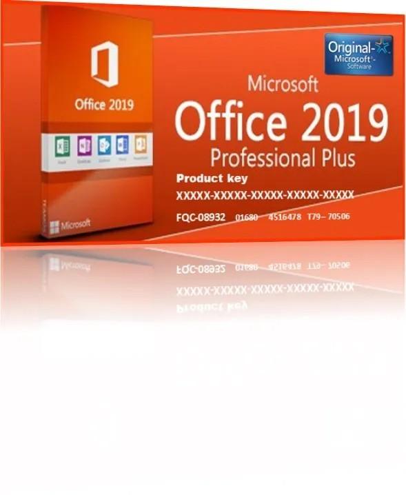 Office  2019 Pro Plus Cartão Chave