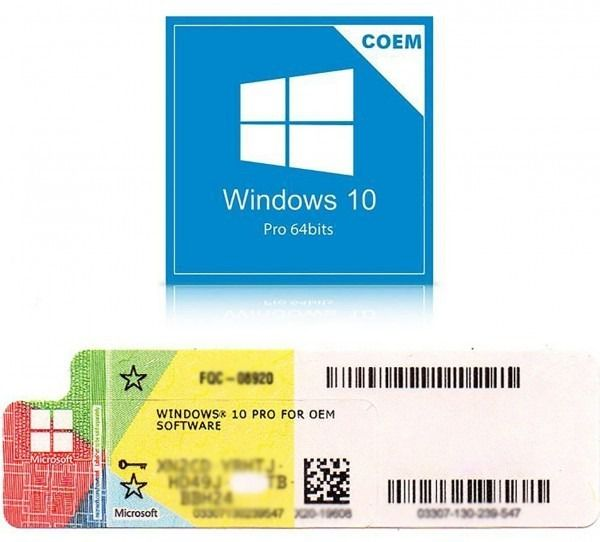 Windows 10 Pro selo coa holográfico