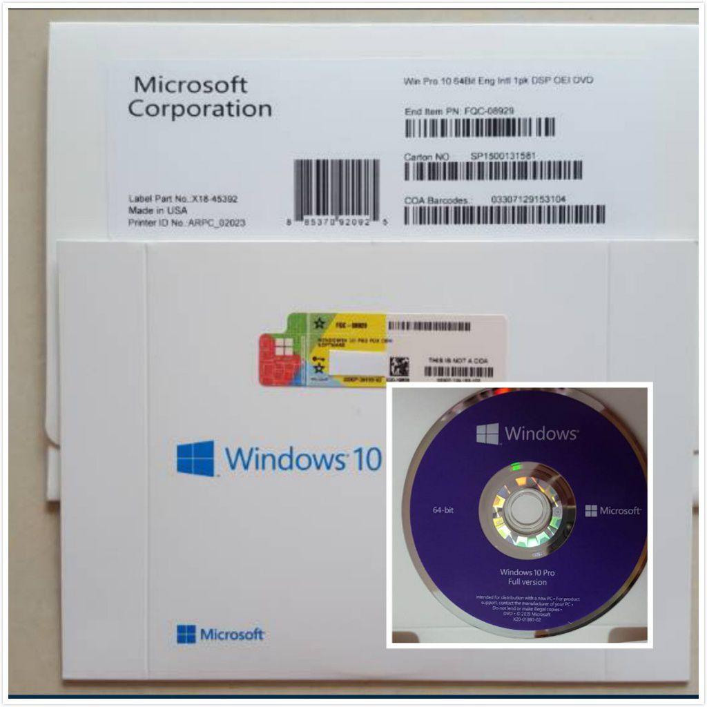 Windows 10 Pro DVD Original 32 64 bits com Licença Selo Coa Holográfico