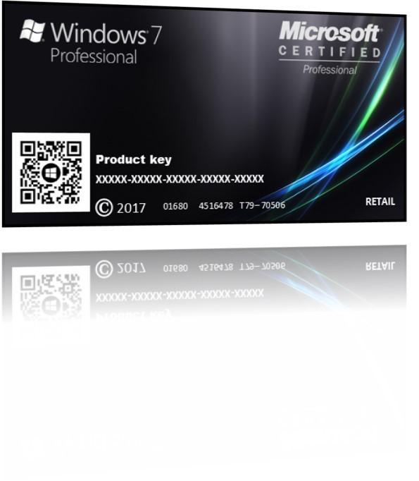 WINDOWS 7 PROFESSIONAL PT BR  Cartão Chave
