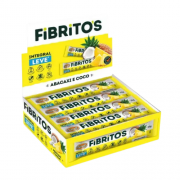 Fibritos Abacaxi e Coco Leve - Barra de Fibras 15x 25g