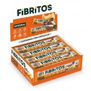 Fibritos Castanha c/ Chocolate - Barra de Fibras 15x 25g