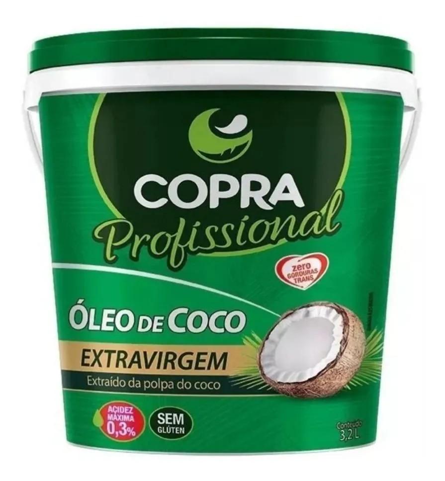 Balde Óleo de Coco Extra Virgem 3,2 Lt Copra
