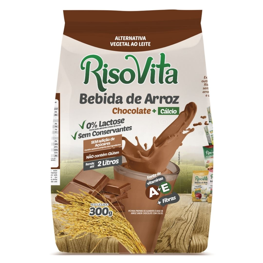 Bebida de Arroz em Pó Chocolate 300g - RisoVita