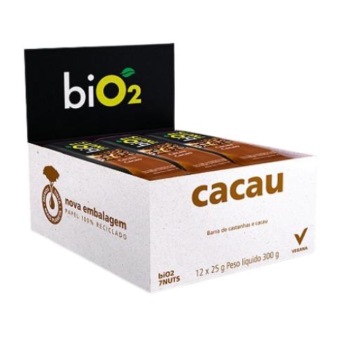 Bio2 7nuts Castanhas e  Cacau 12x 25g Barra de Cereiais