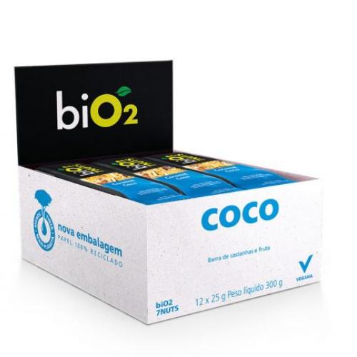 Bio2 7Nuts Castanhas e Coco 12x 25g Barra de Cereais