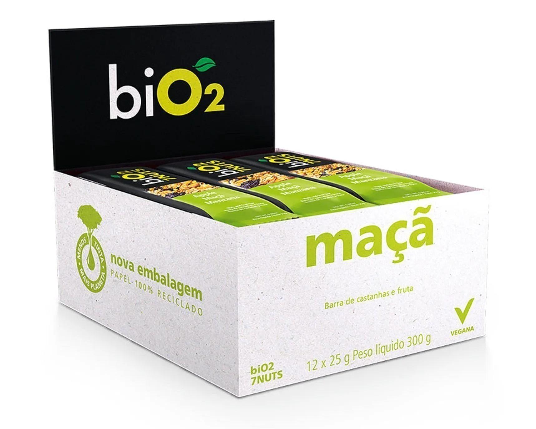 Bio2 7Nuts Castanhas e Maça 12x 25g