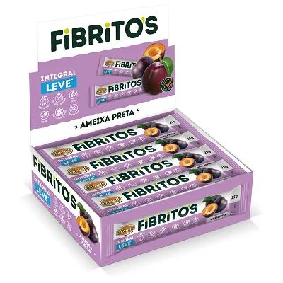 Fibritos Ameixa Preta Leve - Barra de Fibras 15x 25g