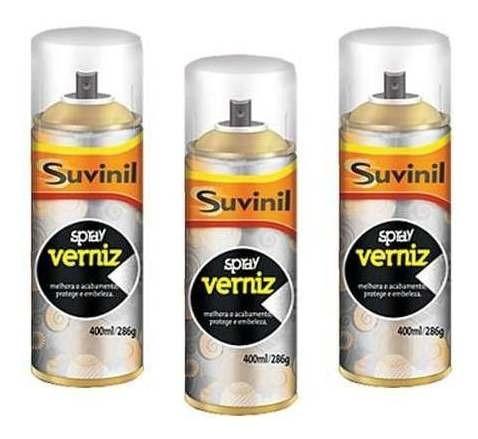 03 Tinta Spray Verniz Natural Brilh. Suvinil Arte,automotivo