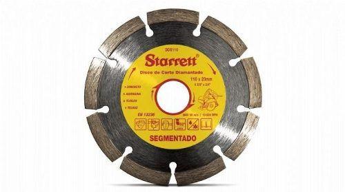 Disco De Corte Diamantado Segmentado 110 Mm Starrett