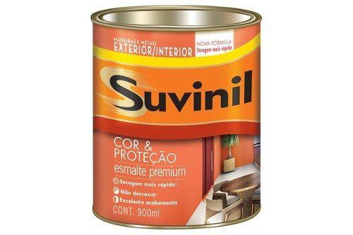 Tinta Esmalte Madeira E Metal Branco Acetinado Suvinil 900ml
