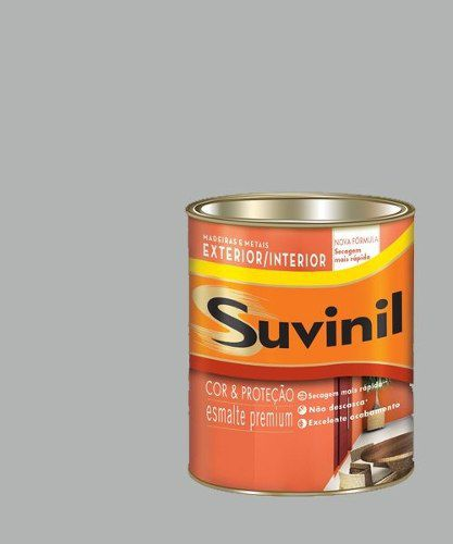 Tinta Esmalte Madeira Metal Alumínio Brilhante Suvinil 225ml