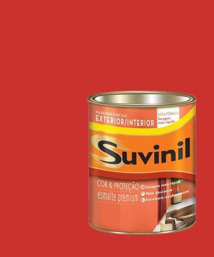 Tinta Esmalte Madeiras E Metais Vermelho Br Suvinil 225ml