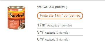 Tinta Esmalte Madeira Metal Alumínio Brilhante Suvinil 900ml