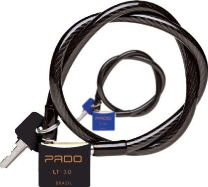 Cadeado P/ Bicicleta Sm Lt-30mm Preto Pado