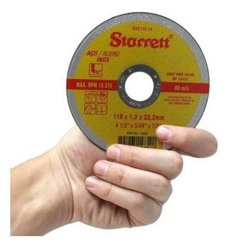 12 Disco Corte Fino Inox 4.1/2 X 1,0 Esmerilhadeira Starrett