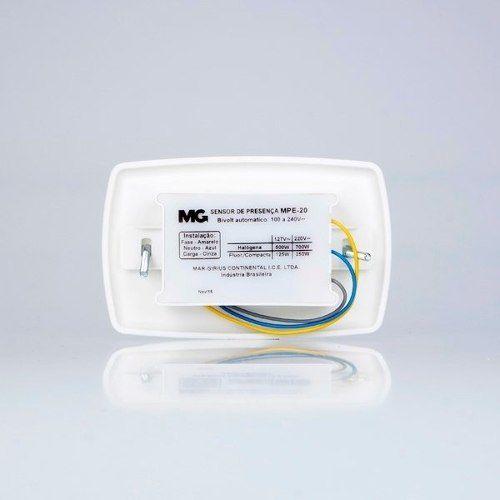 Sensor De Presença Embutir Parede Mpe - 20 Margirius