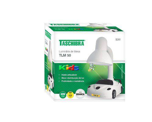 Luminária De Mesa Tlm 50 Carro Taschibra (branco)