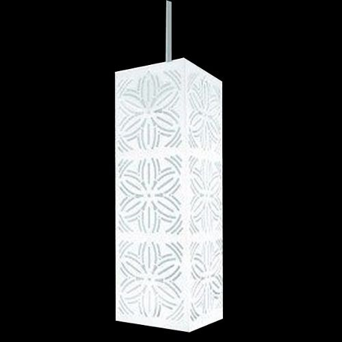 Lustre Luminaria Pendente Renda 101 Branco Fosco Taschibra