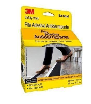 Fita Antiderrapante 3m Transparente 50mmx5m Uso Geral