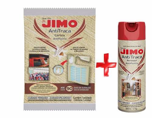 Kit Jimo Antitraça Aerossol 300ml + Anti Traça Cartela