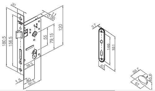 Fechadura Zamac Interna 40mm Concept Esp 404i Cr - Pado