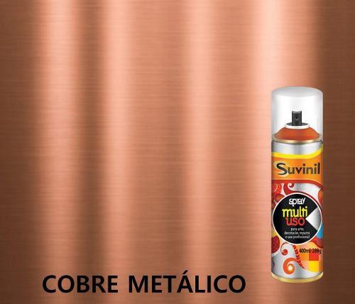 Tinta Spray Multiuso Cobre Metálico 400ml Suvinil
