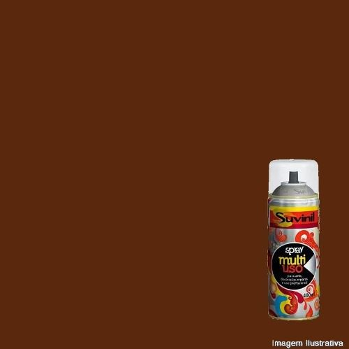 Tinta Spray Multiuso Marrom Brilhante 400ml Suvinil