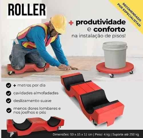 Roller De Carga Transporte Piso Porcelanatos Massa Argamassa