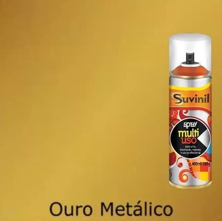 Tinta Spray Multiuso Dourado Metálico 400ml Suvinil